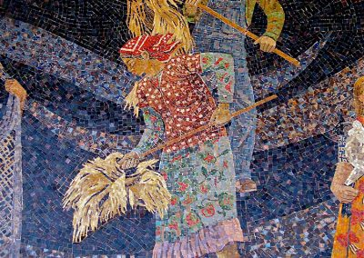 Lillian Sizemore, My first encounter with a Millard Sheets designed Home Savings bank on West Portal Ave. in San Francisco, detail of the exterior mosaic mural, c.1977.