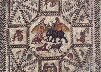 The Lod Mosaic, central panel