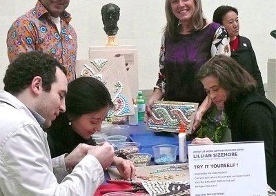 Lillian creates custom hands-on mosaic activities for museum education.