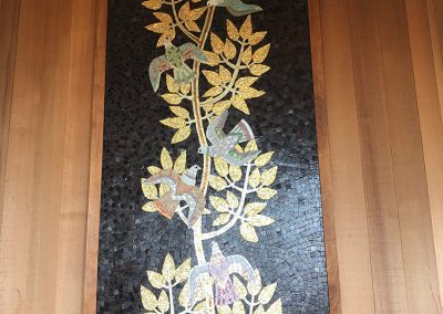 Lillian Sizemore conducted a valuation and historic case study for this Tree of Life mosaic made by the Sheets Studio c.1985.