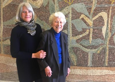 Lillian and Marjorie at the Milwaukee State Office Building, April 2018  Photo: Mike De Sisti