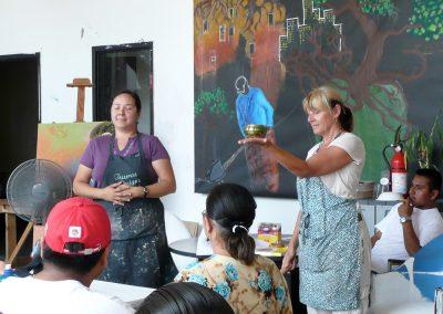 Mind's Eye with Piece by Piece Instructor (L), Luz Mac-Durini, Spanish translator