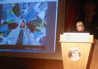 Lillian presenting about Priceless at the international conference at Zeugma Mosaic Museum