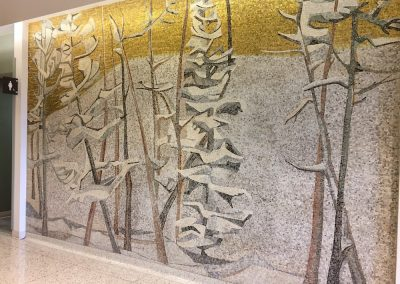 Coniferous Forests, 1963, 6th fl. Milwaukee State Office Building, Photo: Lillian Sizemore